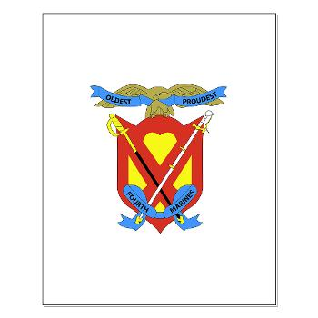 4MRHC - M01 - 02 - Headquarters Company - 4th Marine Regiment - Small Poster