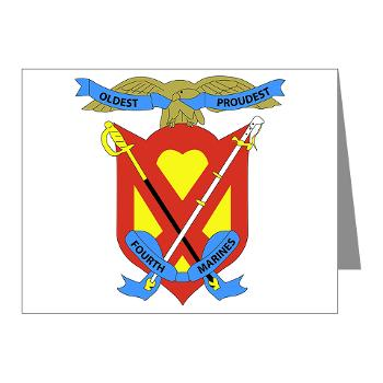 4MR - M01 - 02 - 4th Marine Regiment - Note Cards (Pk of 20)