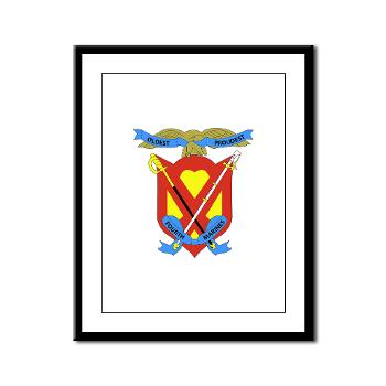 4MRHC - M01 - 02 - Headquarters Company - 4th Marine Regiment - Framed Panel Print