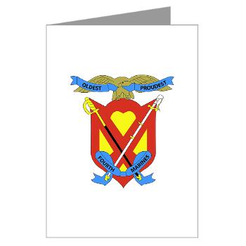 4MRHC - M01 - 02 - Headquarters Company - 4th Marine Regiment - Greeting Cards (Pk of 10)