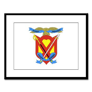 4MRHC - M01 - 02 - Headquarters Company - 4th Marine Regiment - Large Framed Print