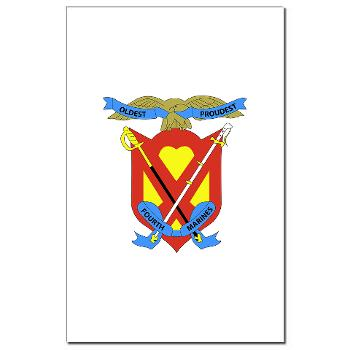 4MRHC - M01 - 02 - Headquarters Company - 4th Marine Regiment - Mini Poster Print