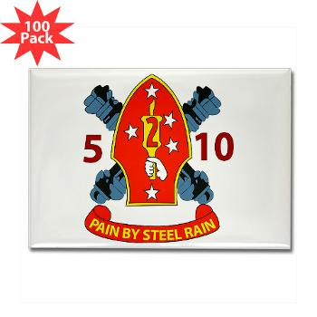 5B10M - A01 - 01 - USMC - 5th Battalion 10th Marines - Rectangle Magnet (100 pack)