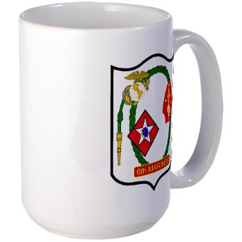 6MRHC6M - A01 - 01 - USMC - Headquarters Company 6th Marines - Large Mug