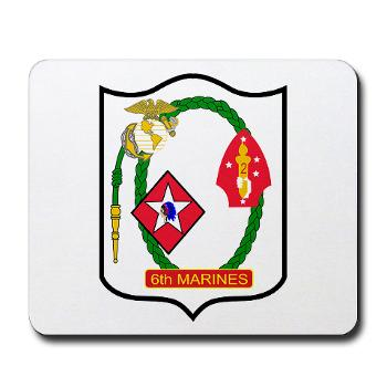 6MRHC6M - A01 - 01 - USMC - Headquarters Company 6th Marines - Mousepad