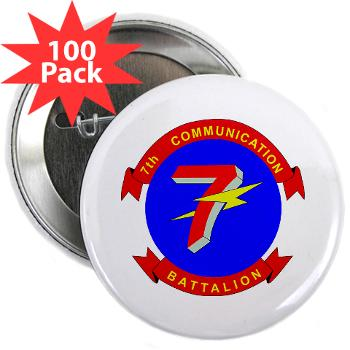"7CB - M01 - 01 - 7th Communication Battalion - 2.25"" Button (100 pack)"