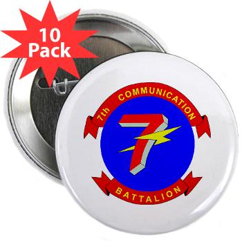 "7CB - M01 - 01 - 7th Communication Battalion - 2.25"" Button (10 pack)"
