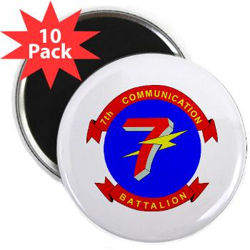 "7CB - M01 - 01 - 7th Communication Battalion - 2.25"" Magnet (10 pack)"