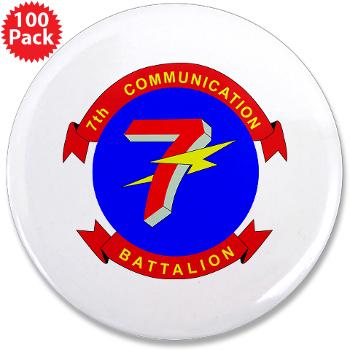 "7CB - M01 - 01 - 7th Communication Battalion - 3.5"" Button (100 pack)"