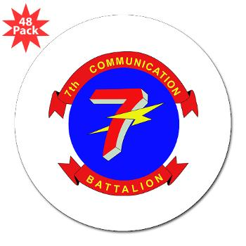 "7CB - M01 - 01 - 7th Communication Battalion - 3"" Lapel Sticker (48 pk)"