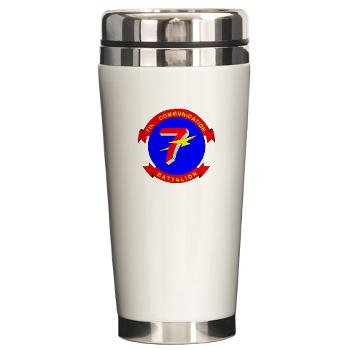 7CB - M01 - 03 - 7th Communication Battalion - Ceramic Travel Mug