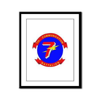 7CB - M01 - 02 - 7th Communication Battalion - Framed Panel Print