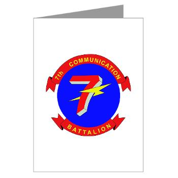 7CB - M01 - 02 - 7th Communication Battalion - Greeting Cards (Pk of 10)