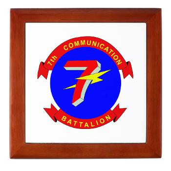 7CB - M01 - 03 - 7th Communication Battalion - Keepsake Box