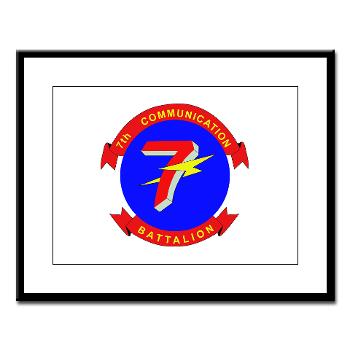 7CB - M01 - 02 - 7th Communication Battalion - Large Framed Print
