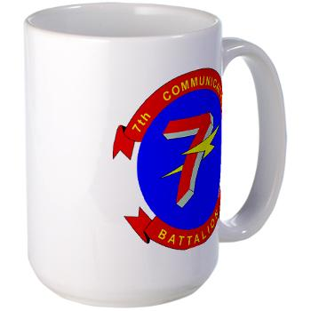 7CB - M01 - 03 - 7th Communication Battalion - Large Mug