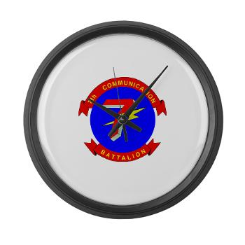 7CB - M01 - 03 - 7th Communication Battalion - Large Wall Clock