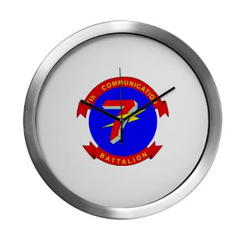 7CB - M01 - 03 - 7th Communication Battalion - Modern Wall Clock