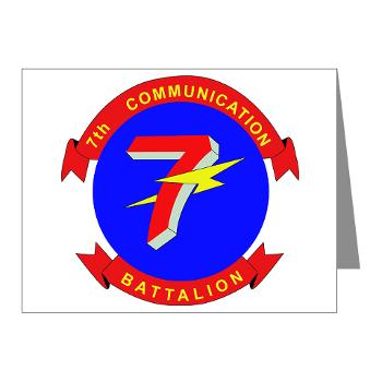 7CB - M01 - 02 - 7th Communication Battalion - Note Cards (Pk of 20)