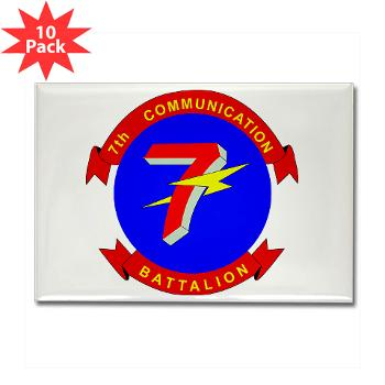 7CB - M01 - 01 - 7th Communication Battalion - Rectangle Magnet (10 pack)