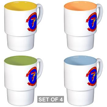 7CB - M01 - 03 - 7th Communication Battalion - Stackable Mug Set (4 mugs)