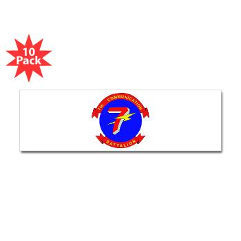 7CB - M01 - 01 - 7th Communication Battalion - Sticker (Bumper 10 pk)
