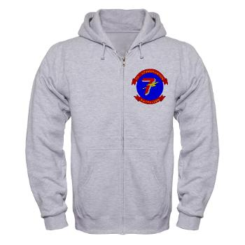 7CB - A01 - 03 - 7th Communication Battalion - Zip Hoodie