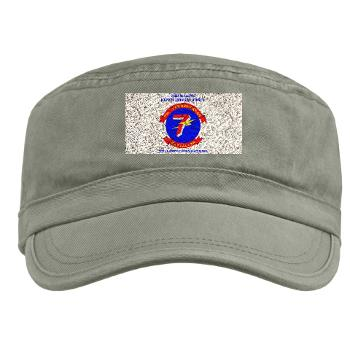 7CB - A01 - 01 - 7th Communication Battalion with Text - Military Cap