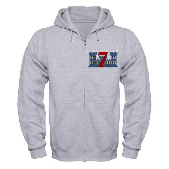 7ESB - A01 - 03 - 7th Engineer Support Battalion - Zip Hoodie