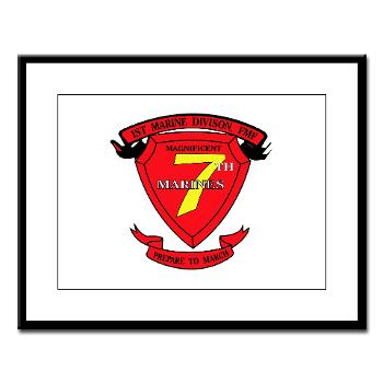 7MR - M01 - 02 - 7th Marine Regiment Large Framed Print
