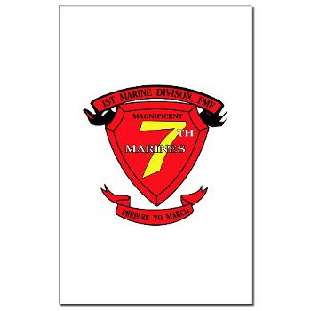 7MR - M01 - 02 - 7th Marine Regiment Mini Poster Print