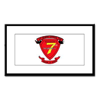 7MR - M01 - 02 - 7th Marine Regiment Small Framed Print