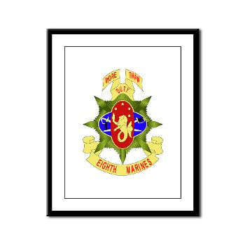 8MR - M01 - 02 - 8th Marine Regiment - Framed Panel Print