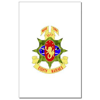 8MR - M01 - 02 - 8th Marine Regiment - Mini Poster Print