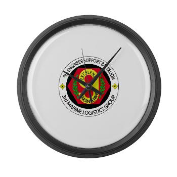9ESB - M01 - 03 - 9th Engineer Support Battalion Large Wall Clock