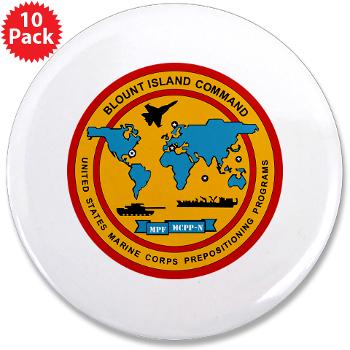 "BIC - M01 - 01 - Blount Island Command - 3.5"" Button (10 pack)"