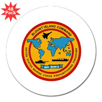 "BIC - M01 - 01 - Blount Island Command - 3"" Lapel Sticker (48 pk)"