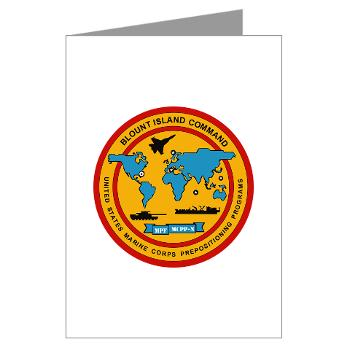 BIC - M01 - 02 - Blount Island Command - Greeting Cards (Pk of 10)