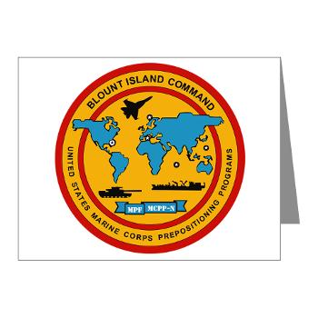 BIC - M01 - 02 - Blount Island Command - Note Cards (Pk of 20)