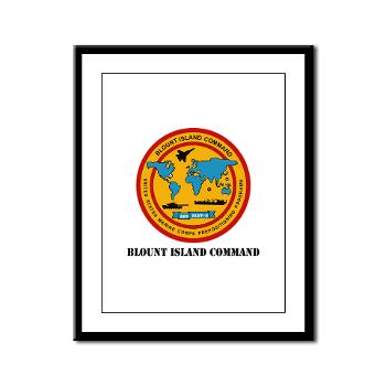 BIC - M01 - 02 - Blount Island Command with Text - Framed Panel Print