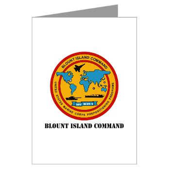 BIC - M01 - 02 - Blount Island Command with Text - Greeting Cardrds (Pk of 20)