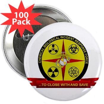 "CBIRF - M01 - 01 - Chemical Biological Incident Response Force - 2.25"" Button (100 pack)"