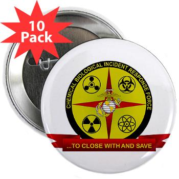 "CBIRF - M01 - 01 - Chemical Biological Incident Response Force - 2.25"" Button (10 pack)"