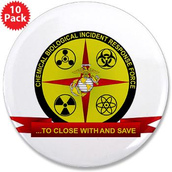 "CBIRF - M01 - 01 - Chemical Biological Incident Response Force - 3.5"" Button (10 pack)"