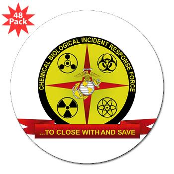 "CBIRF - M01 - 01 - Chemical Biological Incident Response Force - 3"" Lapel Sticker (48 pk)"