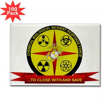 CBIRF - M01 - 01 - Chemical Biological Incident Response Force - Rectangle Magnet (100 pack)