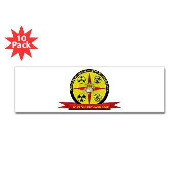 CBIRF - M01 - 01 - Chemical Biological Incident Response Force - Sticker (Bumper 10 pk)