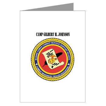 CGilbertHJohnson - M01 - 02 - Camp Gilbert H. Johnson with Text - Greeting Cards (Pk of 20)