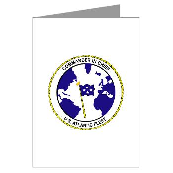 CICUSAF - M01 - 02 - Commander In Chief, US Atlantic Fleet - Greeting Cards (Pk of 10)
