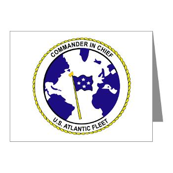 CICUSAF - M01 - 02 - Commander In Chief, US Atlantic Fleet - Note Cards (Pk of 20)